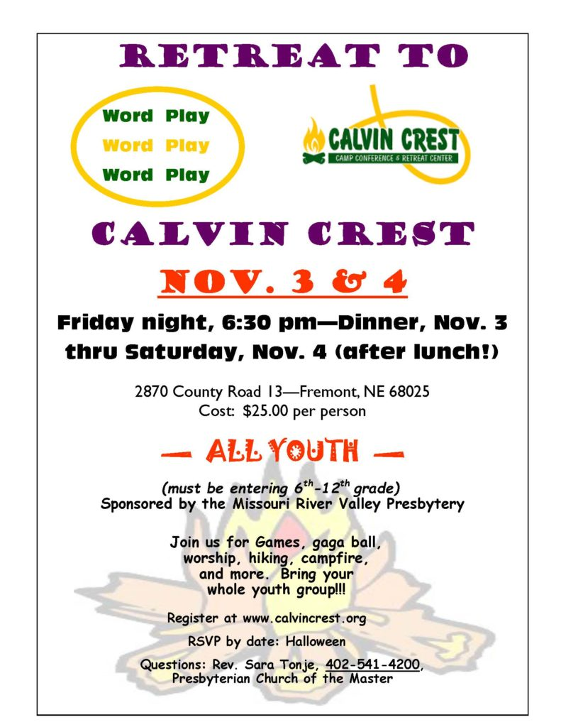 Word Play Youth Retrat Brochure